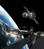 istock International Space Station And Spacecraft 647250876