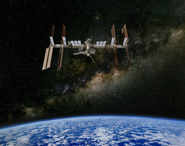 International Space Station und die Milchstraße. – Foto
