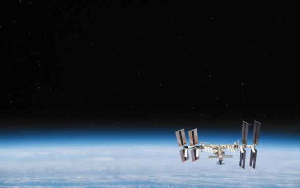 Internationale Raumstation im Orbit. Elemente dieses Bildes von der NASA – Foto