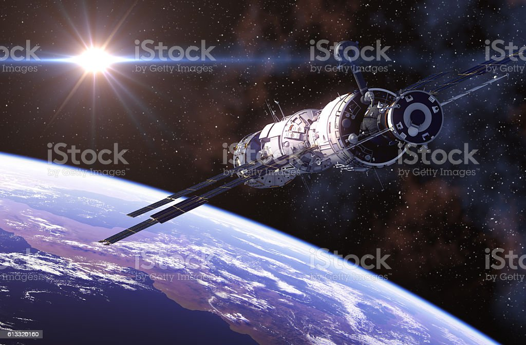 International Space Station In Outer Space. stock photo