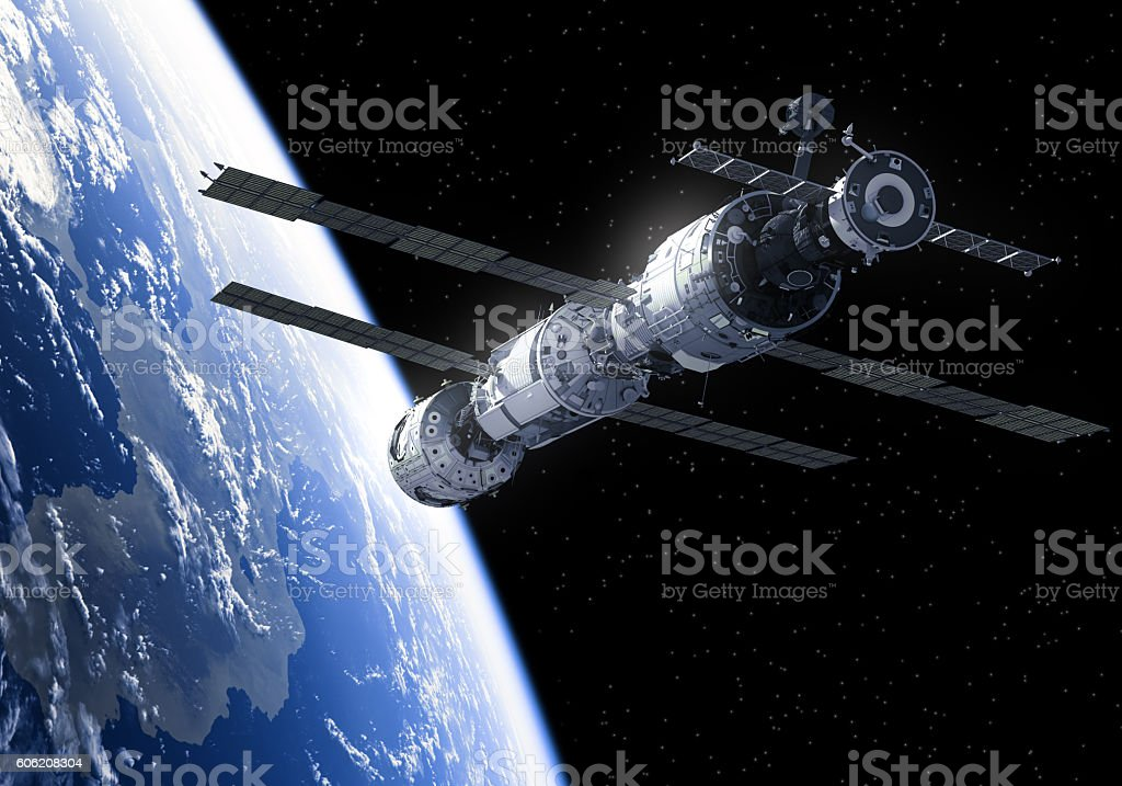 International Space Station In Space stock photo
