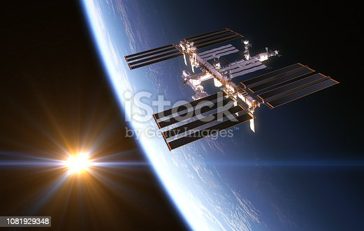istock International Space Station On Background Of Rising Sun 1081929348