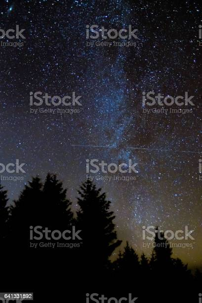 Photo of International Space Station passing in front of Milky Way