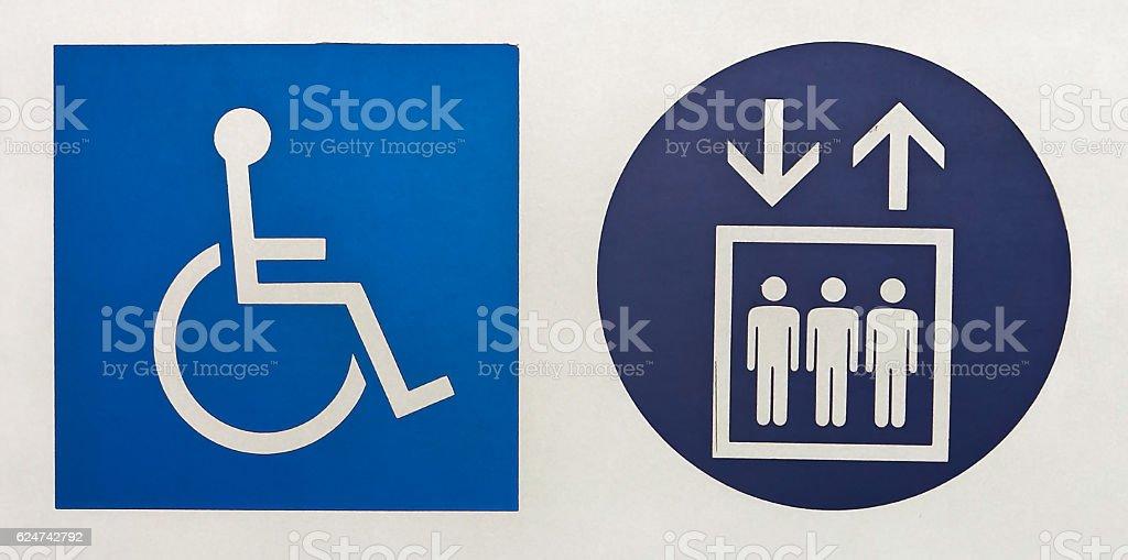 International Symbol Of Access And Elevator Symbol In Brazilian