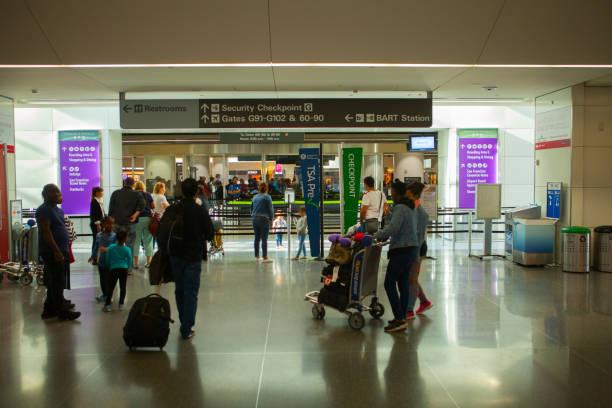 International Terminal in SFO Airport - foto stock