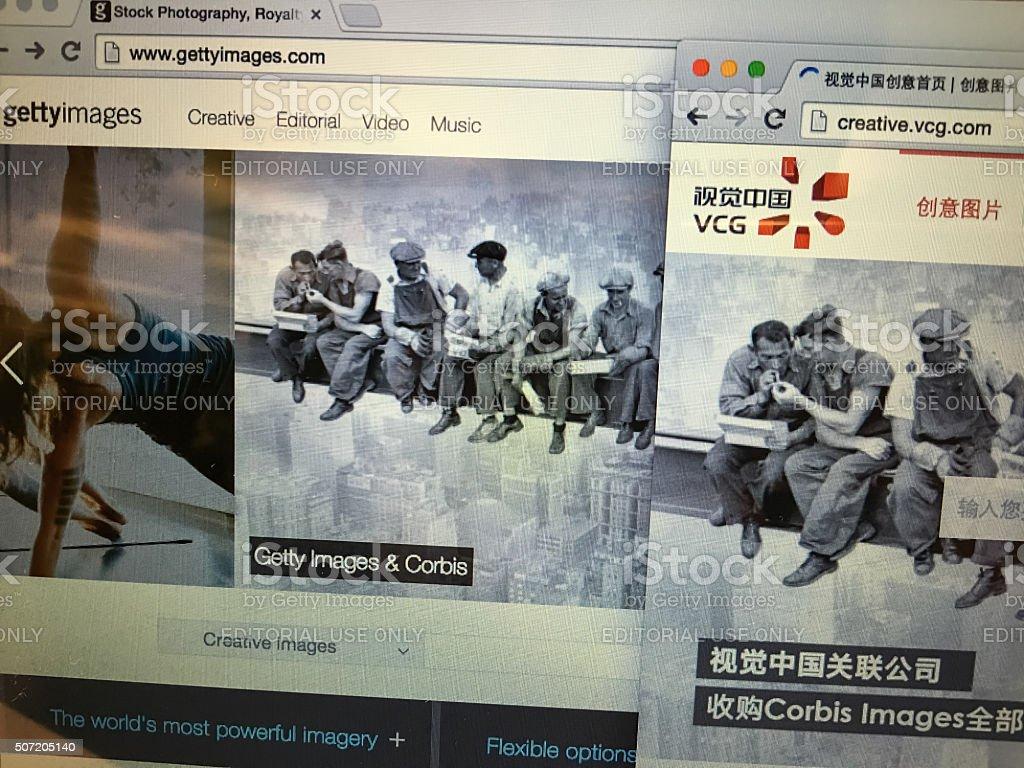 International Top 2 traditional photo stock websites. stock photo