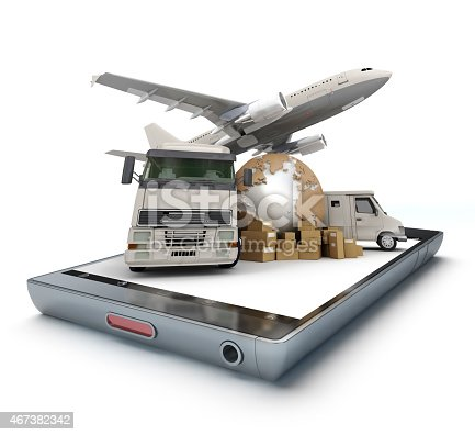 istock International transport app 467382342