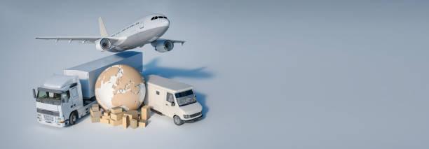 International transportation business stock photo