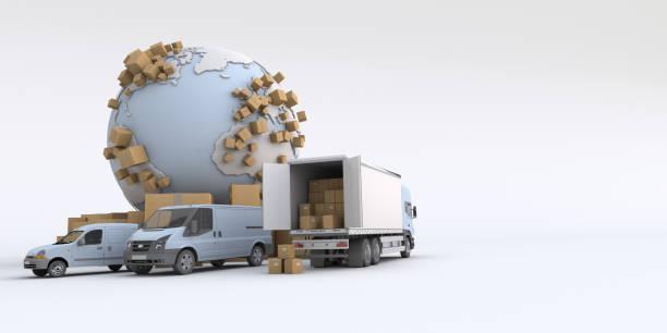 International transportation stock photo