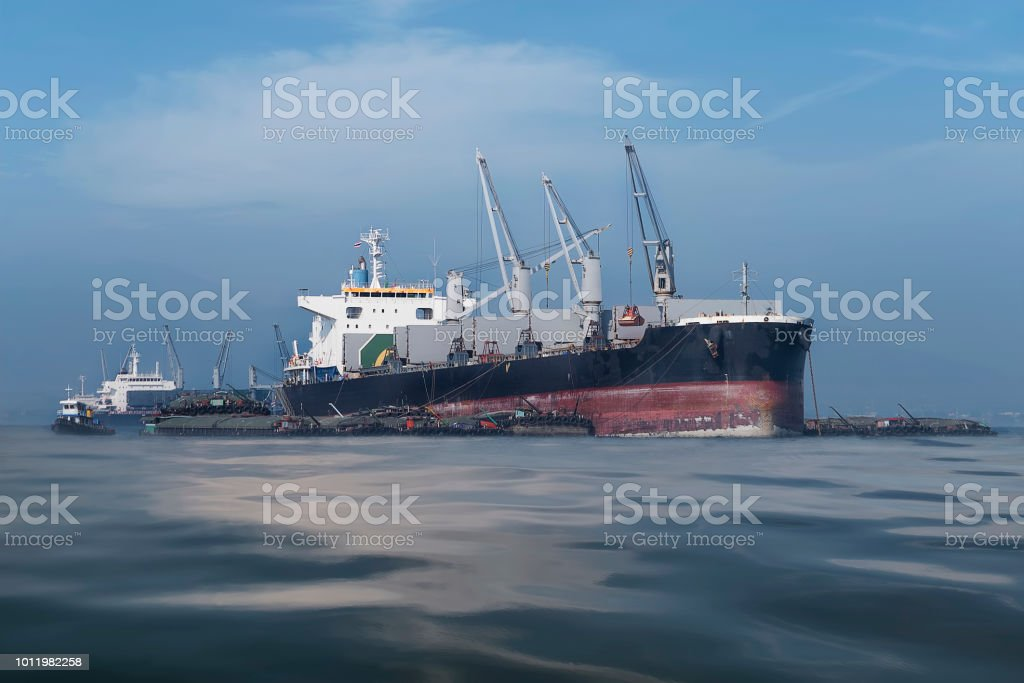 International Transportation Shipping in the deep blue sea