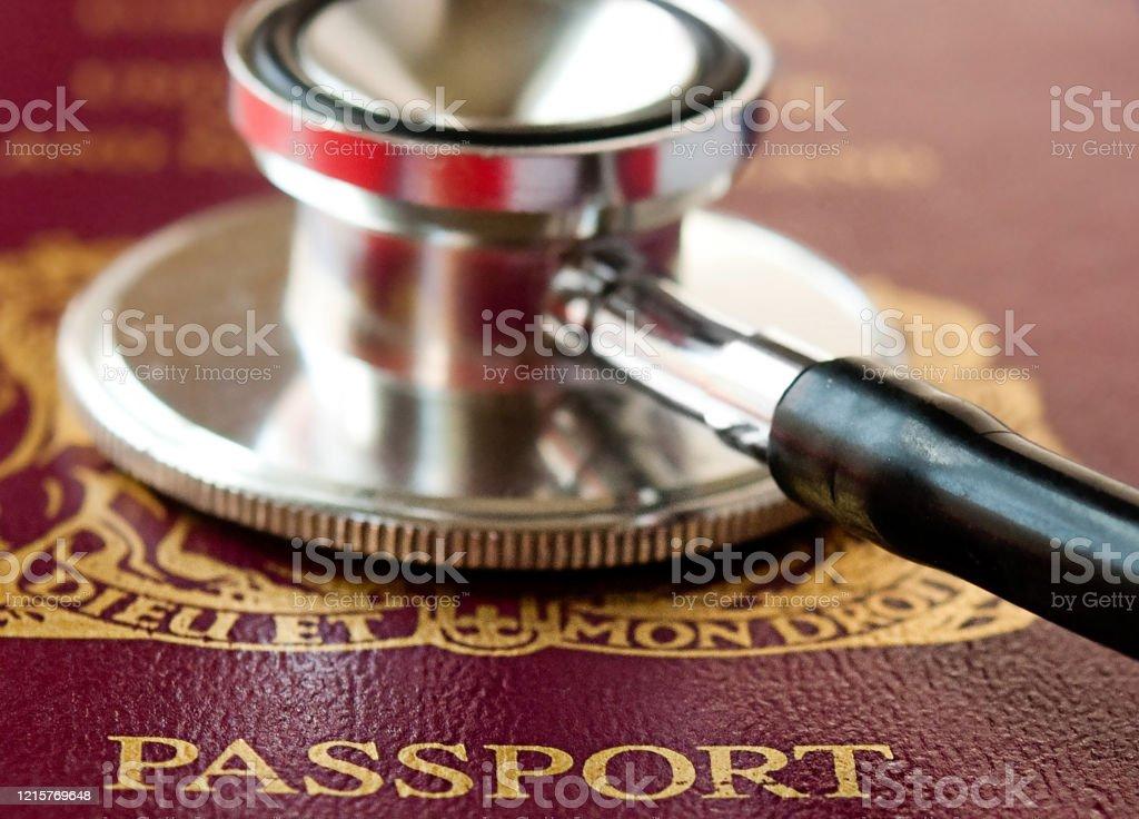 International Travel Restrictions To Combat Coronavirus Concept Image Us Passport And