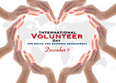 istock International volunteer day for social and economic development December 5 concept 1181102000