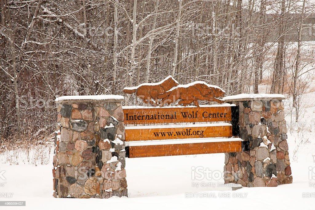 International Wolf Center Sign royalty-free stock photo