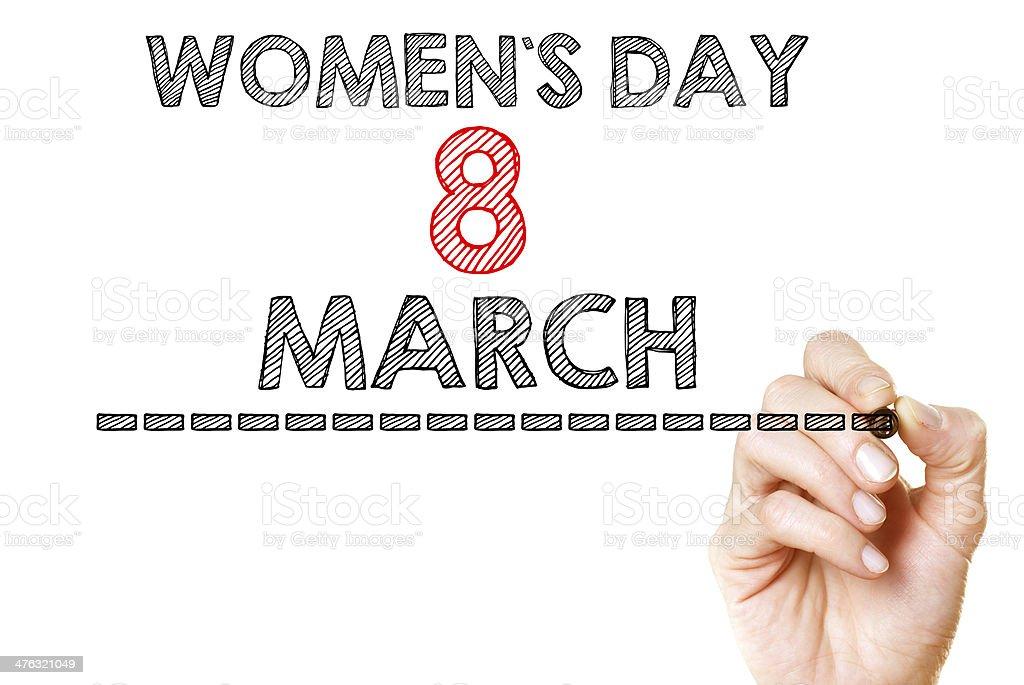 International womans day stock photo