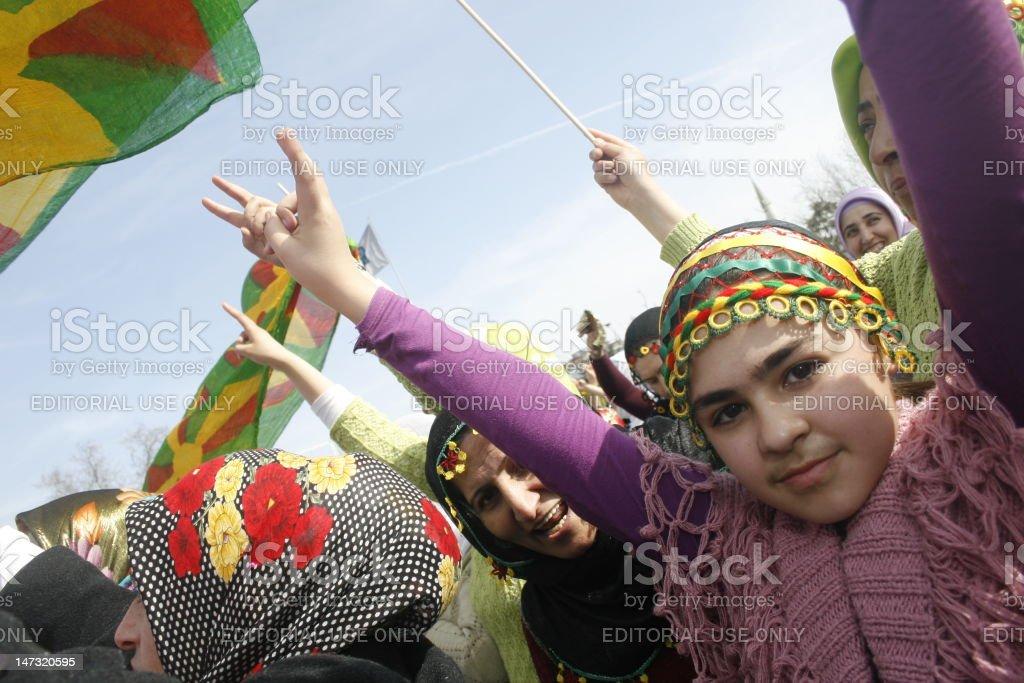 International Women's Day in Istanbul,Turkey stock photo