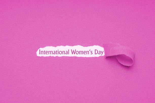 International womens day is celebrated on March 8 stock photo