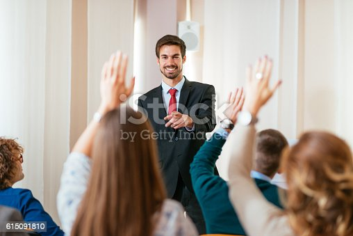 933450738 istock photo Internationl conference in new conference hall 615091810