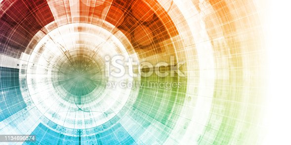 Internet World Wide Web Abstract Tech Background