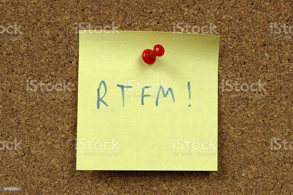 RTFM internet acronym royalty-free stock photo
