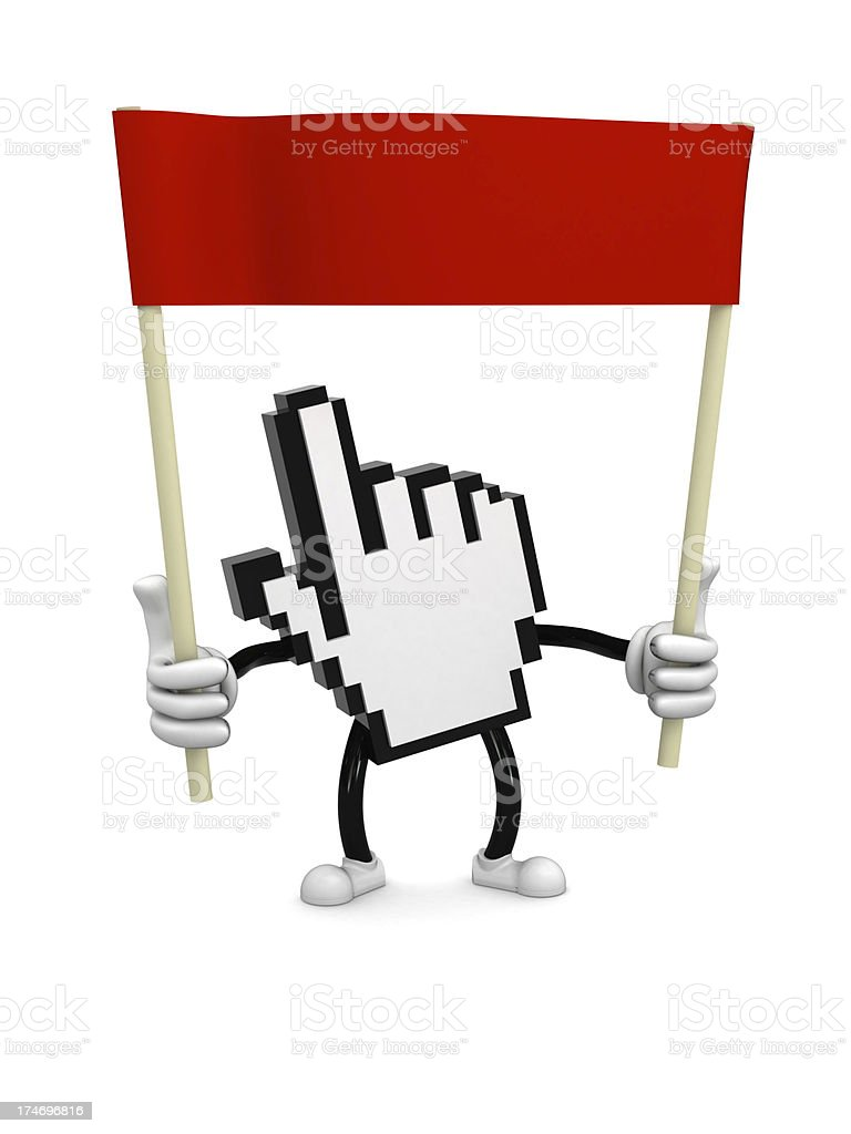 Internet ad stock photo