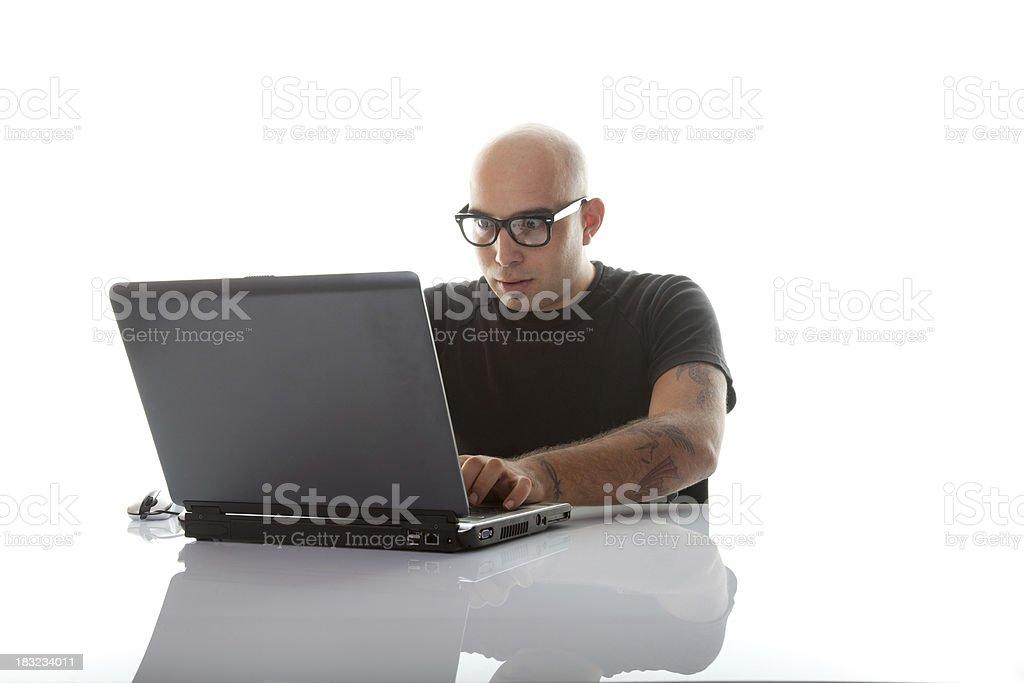 Internet addiction royalty-free stock photo