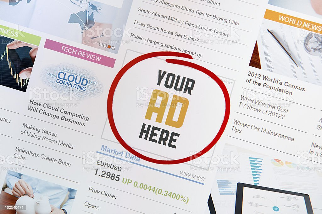 Internet Advertisement royalty-free stock photo