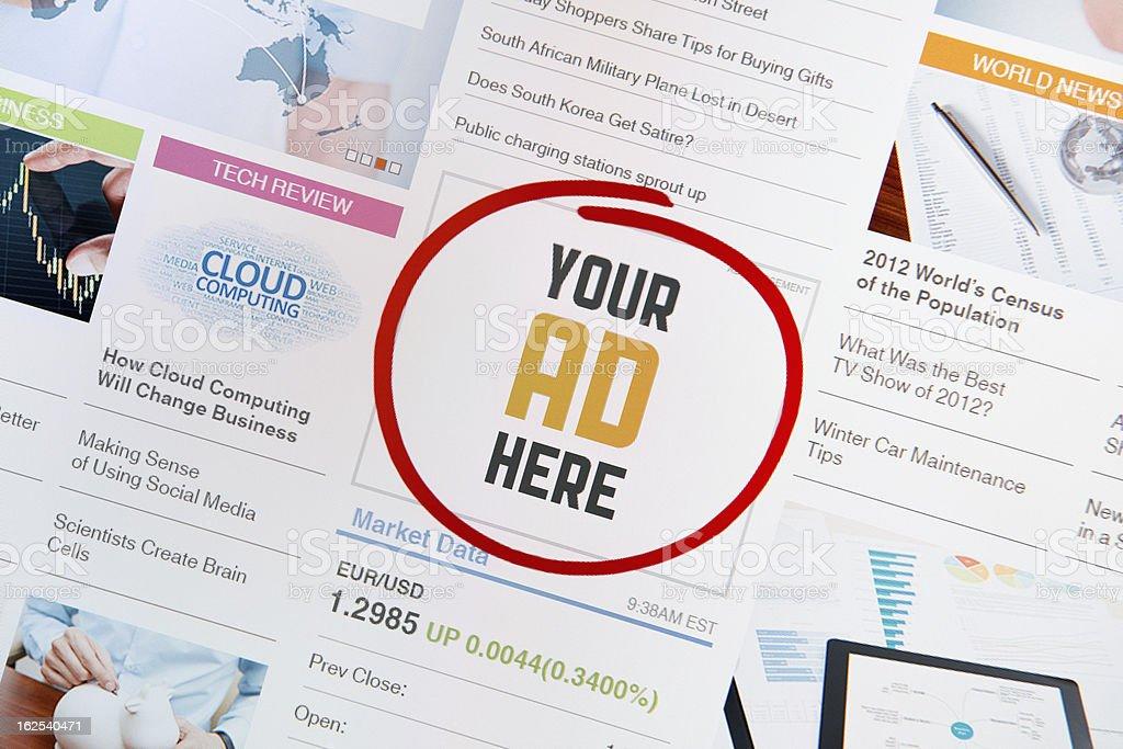 Internet Advertisement stock photo