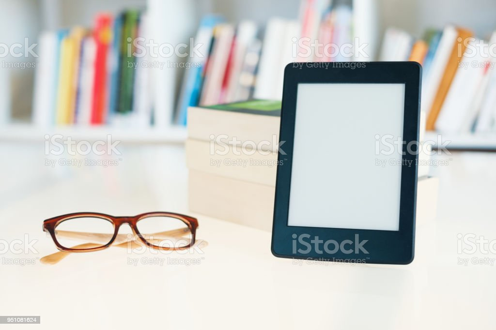 Internet And Electronic Books Concept With Ebook Reader