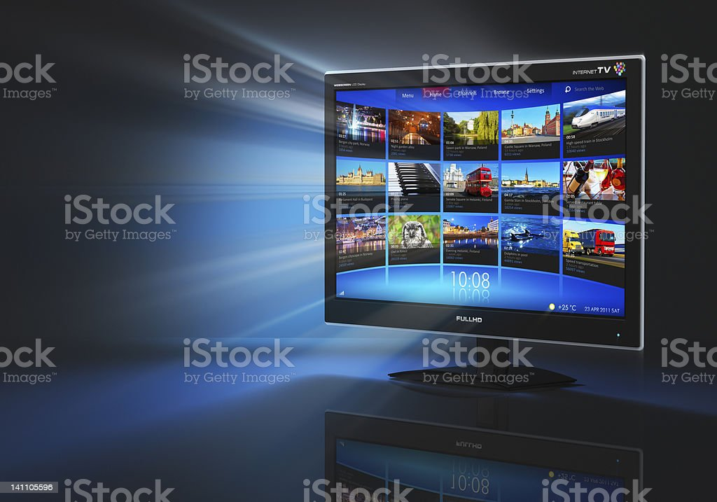 Internet and telecommunication concept stock photo