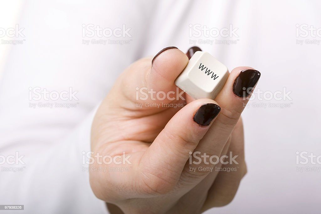 internet at your hand royalty-free stock photo