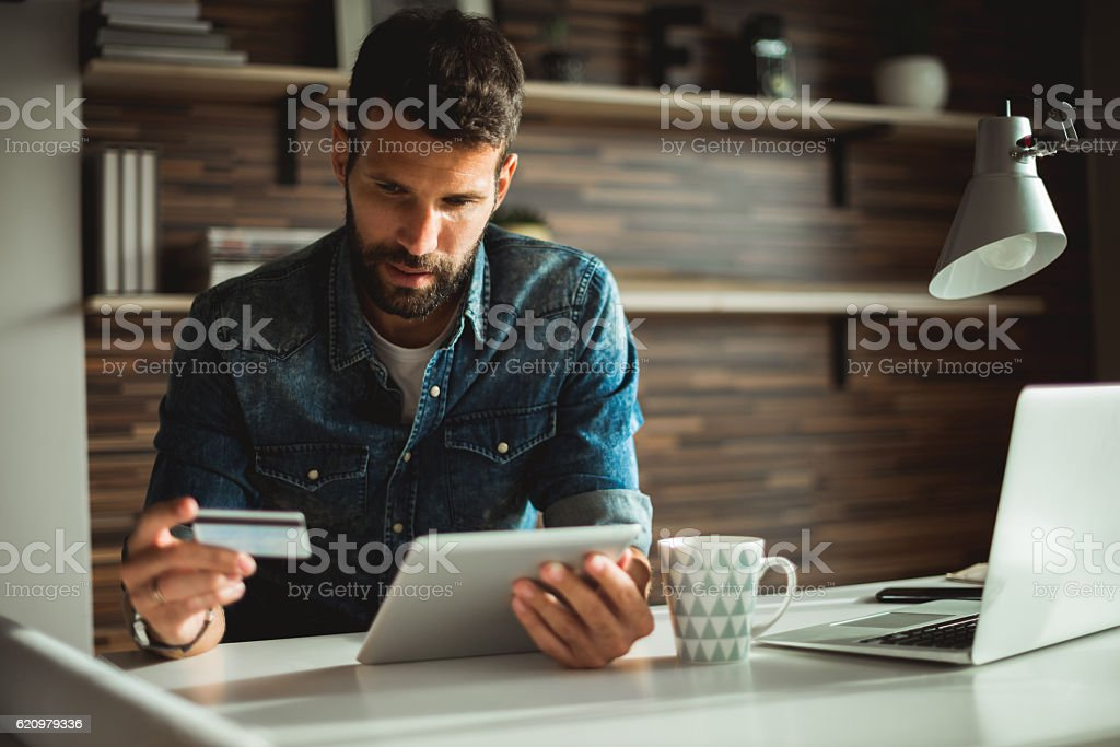Internet banking stock photo