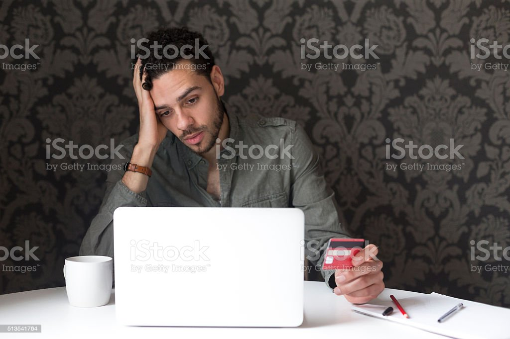 Internet banking problems stock photo