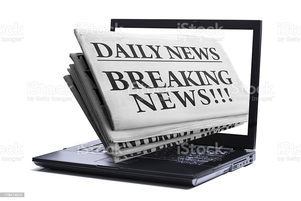 Internet breaking news royalty-free stock photo