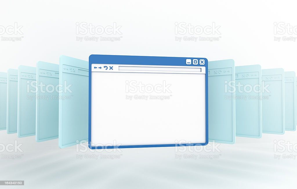 internet browser window stock photo