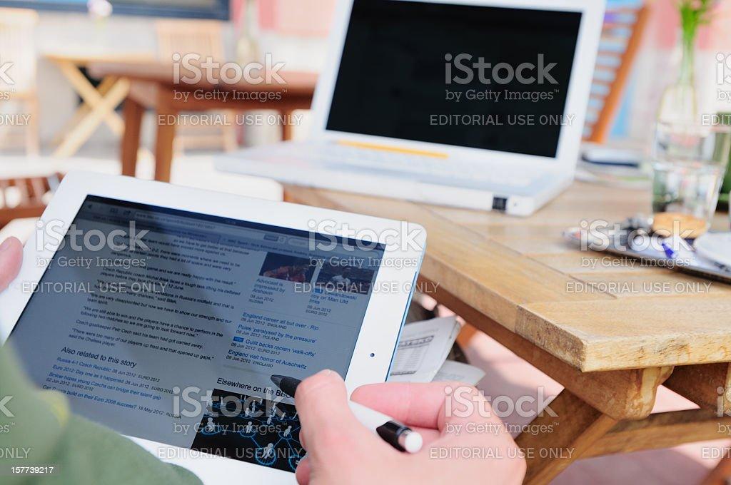 Internet browsing stock photo