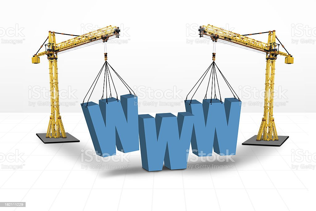 Internet building website concept royalty-free stock photo