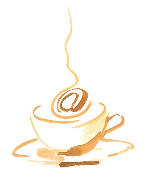 internetcafe @ - www kaffee oder tee stock-fotos und bilder