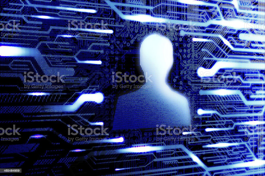 Internet chat or social network person stock photo