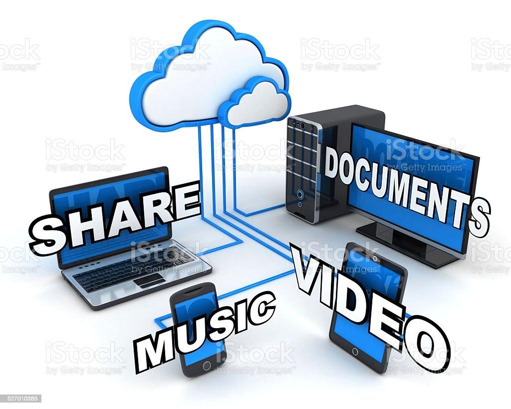 Internet cloud, concept stock photo