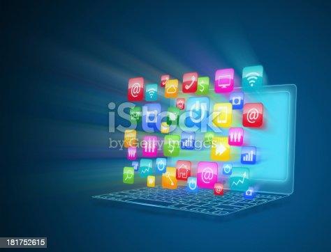 477843023 istock photo Internet communication and cloud computing 181752615