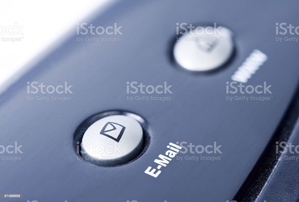 Internet concept - email button on laptop keyboard royalty-free stock photo