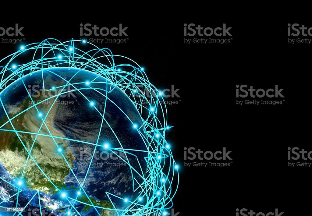 Internet-Konzept global business und wichtigen Strecken – Foto