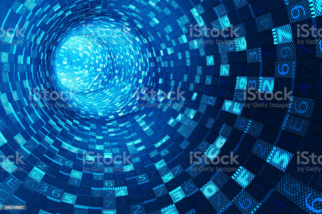 Internet connection, information medium and data communication stream concept stock photo