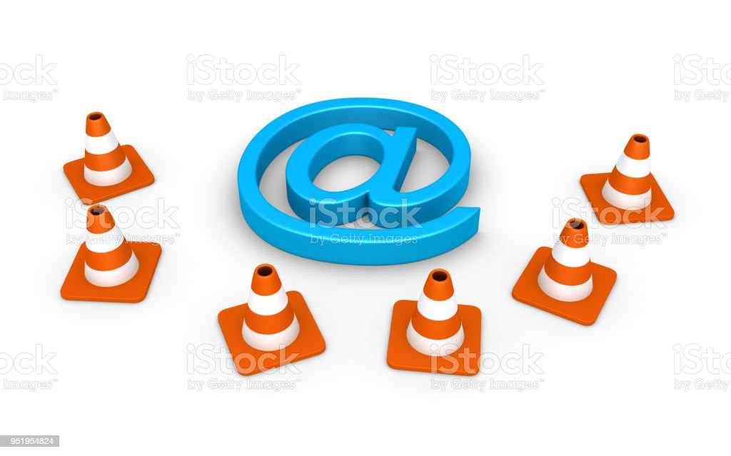 Internet connection is under maintenance stock photo