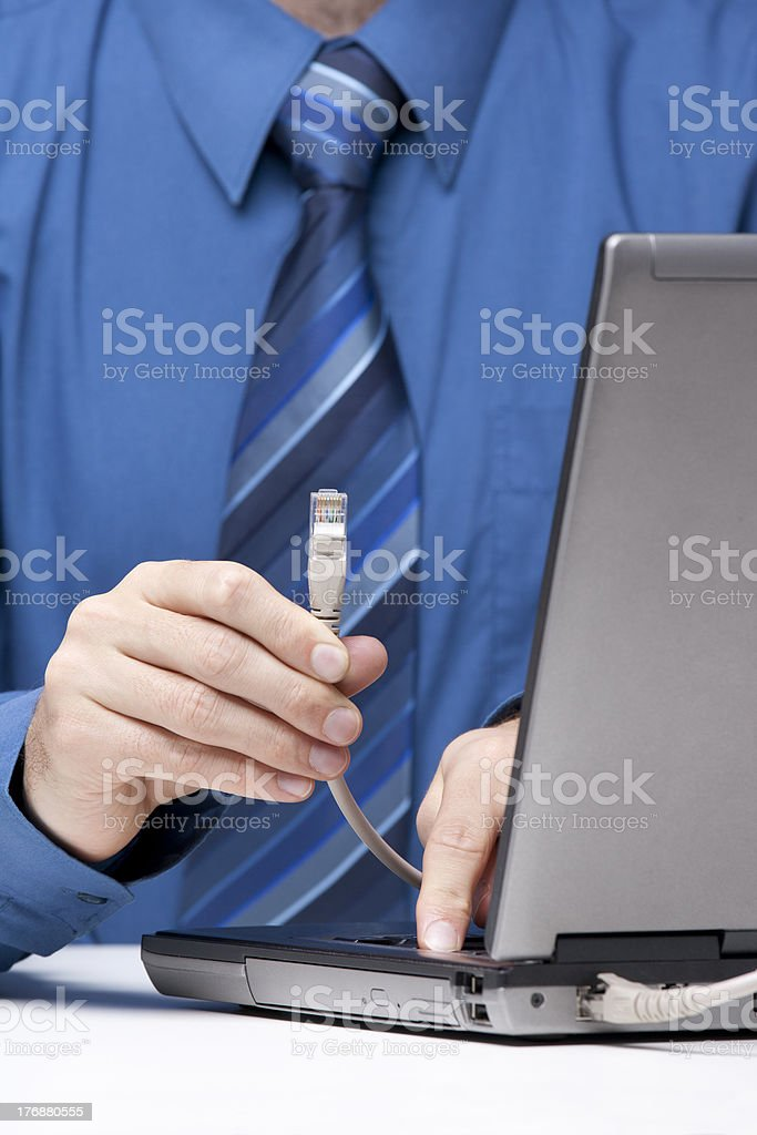 Internet connection royalty-free stock photo