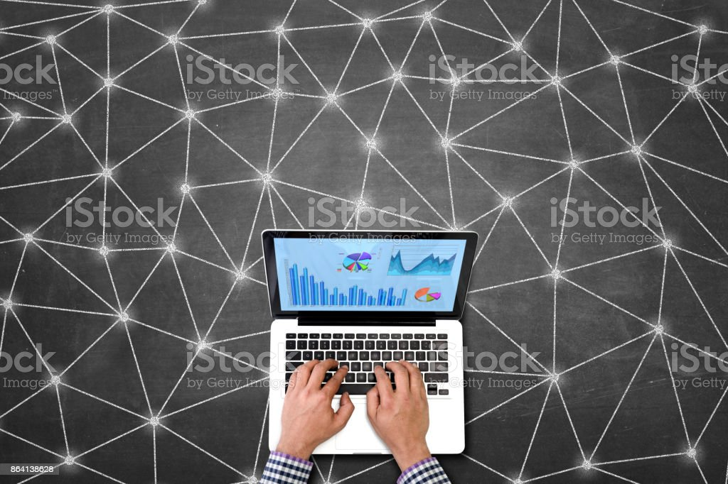 Internet connectivity and working on financial royalty-free stock photo