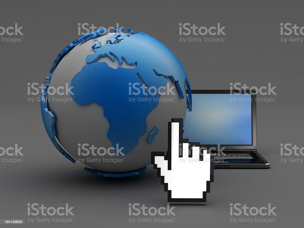 Internet connectivity royalty-free stock photo