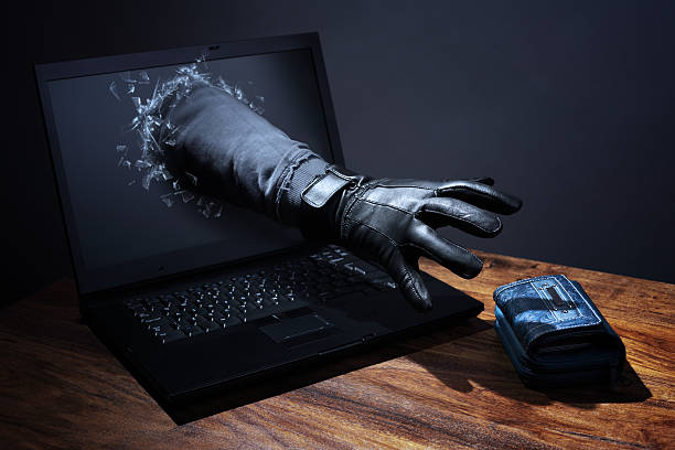 internet crime and electronic banking security - stealing crime stock photos and pictures