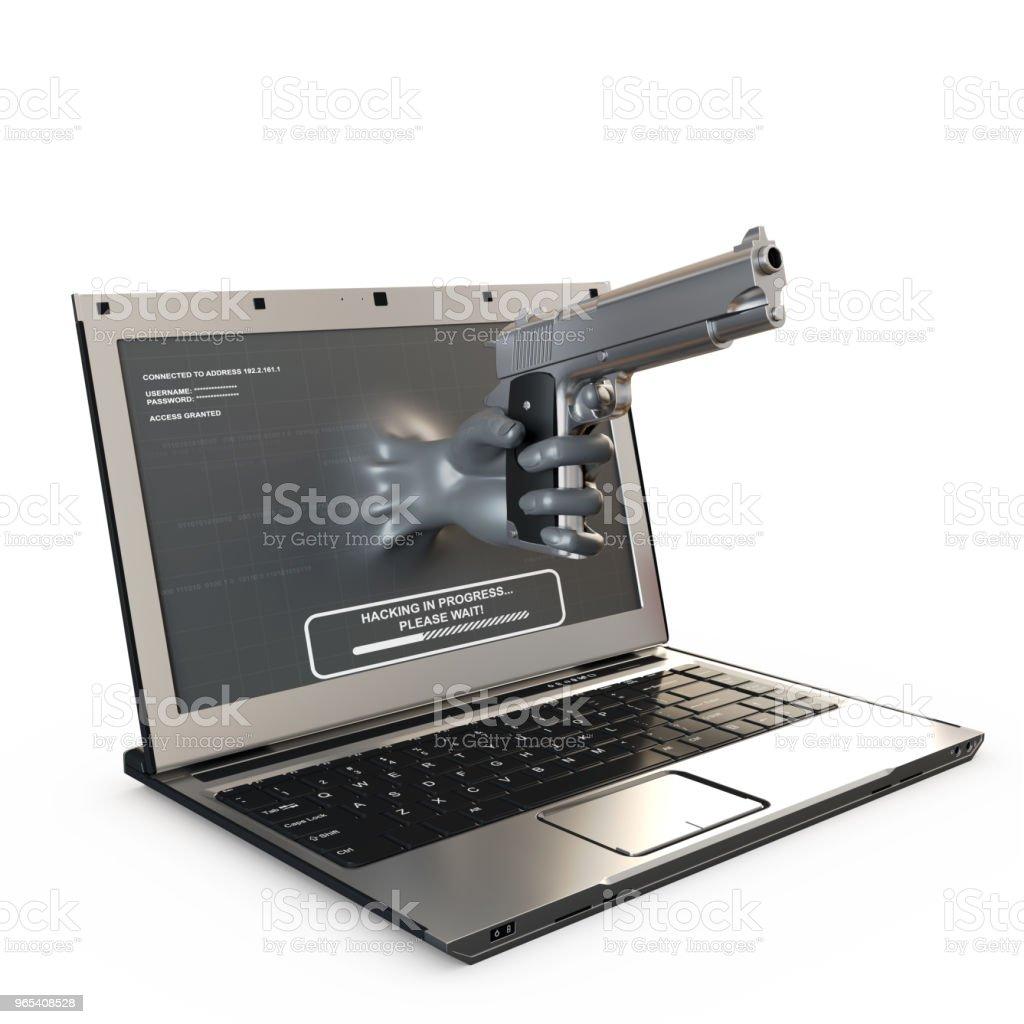 인터넷 범죄 개념 - 로열티 프리 3차원 형태 스톡 사진