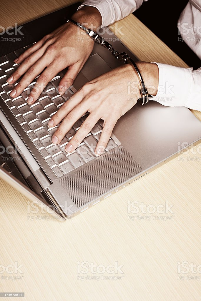 Internet Crime (Vertical) stock photo